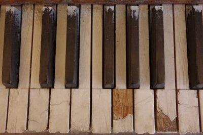Bild Verwitterte Ivory Klaviertasten