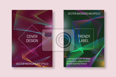 Vibrant cover design with colorful chaotic backdrop. Trendy brochures or packaging backgrounds.