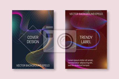 Vibrant cover template with colorful dynamic backdrop. Trendy brochures or packaging backgrounds.