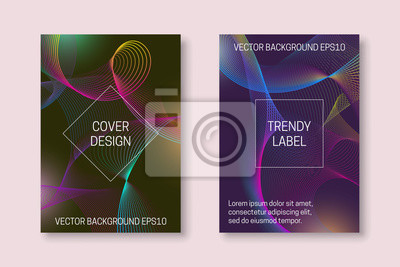 Vibrant cover template with colorful winding backdrop. Trendy brochures or packaging backgrounds.