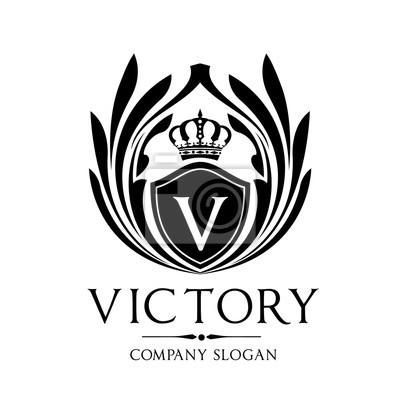 Victory-logo, wappen-logo, hotel-logo, könig-logo, krone-logo ...