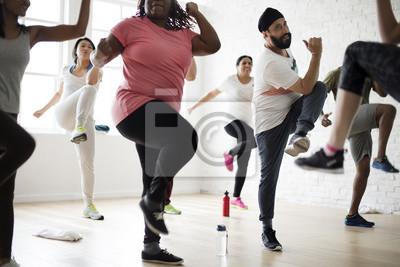Bild Vielfalt Menschen Übung Klasse Relax Concept