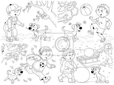 vier jahreszeiten malvorlagen - 28 images - coloring pages