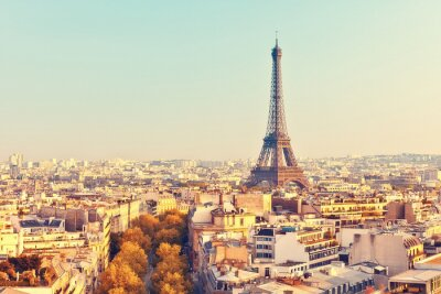 Bild View on Eiffel tower at sunset