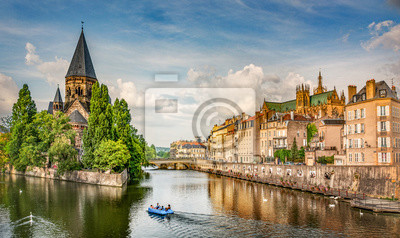 Bild Ville de Metz - Temple neuf et rivage de la moselle