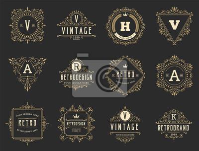 Bild Vintage and retro design element set