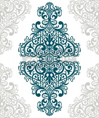 Bild vintage baroque border frame card cover flower motif arabic retro pattern ornate