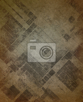 Bild vintage brown background paper texture with rough ragged texture and blotchy faded diagonal blocks of gray or black, shabby distressed gray and brown color stains