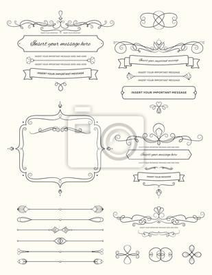 Bild Vintage Calligraphy Design Elements Two