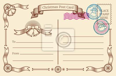 Vintage Bilder Weihnachten.Bild Vintage Christmas Leere Postkarte Mit Text Raum Und Weihnachten