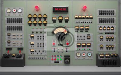 Bild Vintage control room background concept 3D illustration
