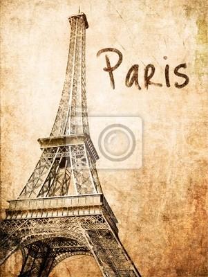 Vintage Eiffel -Karte