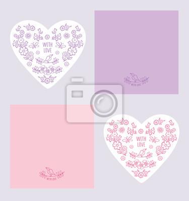 Vintage Grusskarten Mit Valentinstag Muttertag Tag Der Frauen