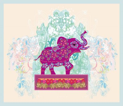 Bild Vintage Indian ornament with an elephant