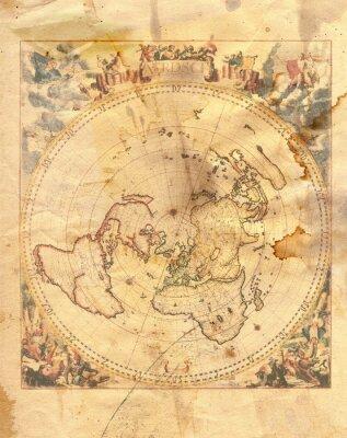 Bild Vintage-Karte der Welt