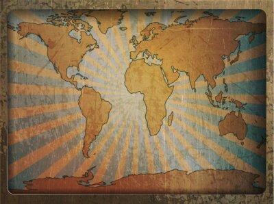 Bild Vintage-Karte Weltkarte
