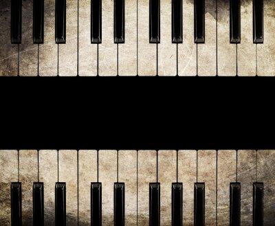 Bild Vintage Klavier getrennt