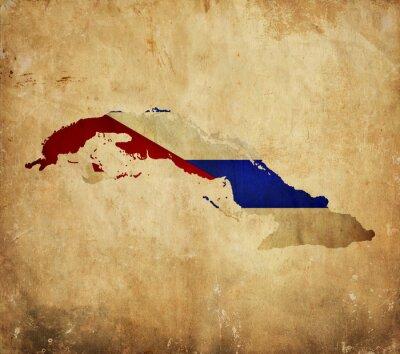 Bild Vintage map of Cuba on grunge paper