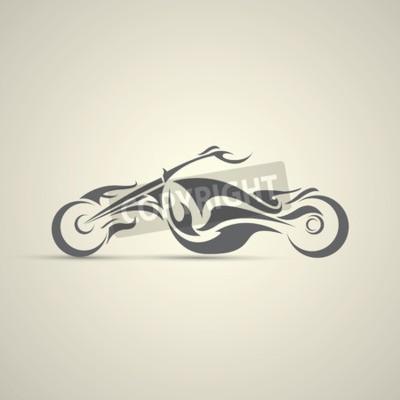 Bild Vintage Motorrad-Label, Abzeichen, Design-Element. abstraktes Motorrad-Logo