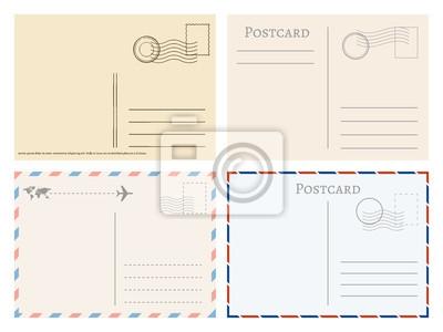 Bild Vintage-Papier-Postkarten. Grüße aus Postkarte Vektor Vorlage