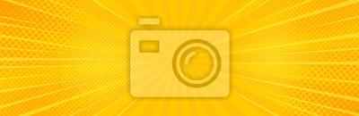 Bild Vintage pop art yellow background. Banner vector illustration