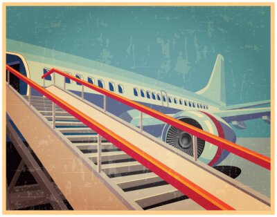 Bild Vintage poster with plane