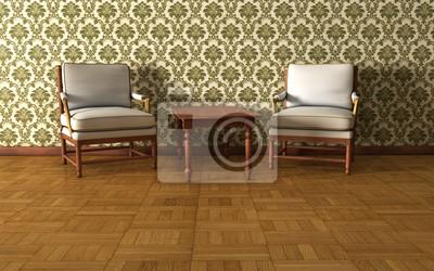 Bild Vintage room Hintergrund