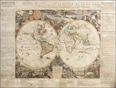 Bild Vintage World map