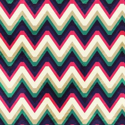 Bild Vintage-Zick-Zack-nahtlose Muster mit Grunge-Effekt