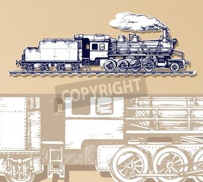Bild Vintage Zug.