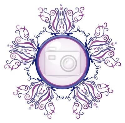 Violet und blaue Brosche. Abbildung 10 Version