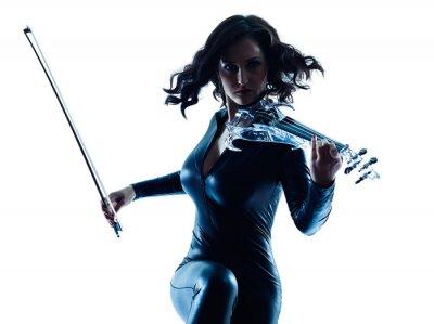 Bild Violinist woman slihouette isolated