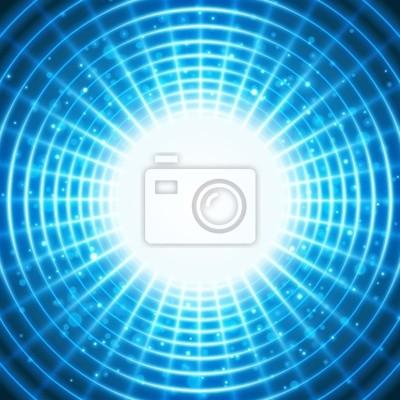 Virtueller raum mit licht draht linien hintergrund leinwandbilder ...