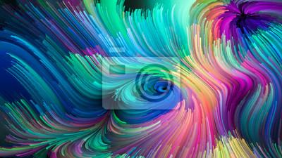 Virtuelles Leben der flüssigen Farbe
