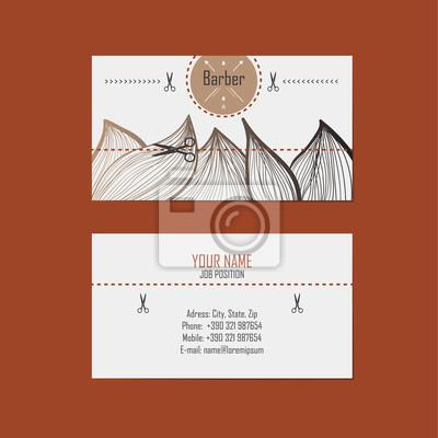 Visitenkarte Friseur Barber Leinwandbilder Bilder