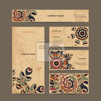 Bild Visitenkarten Auflistung Blumen Design