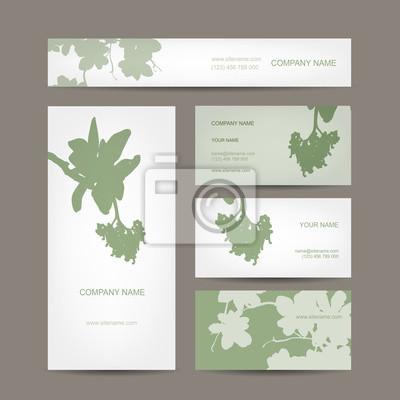 Visitenkarten Auflistung Blumen Design Leinwandbilder