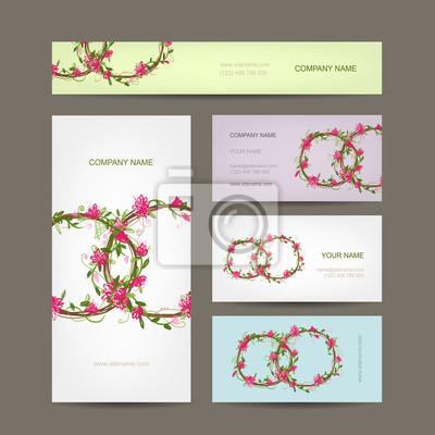 Visitenkarten Auflistung Hochzeit Design Leinwandbilder
