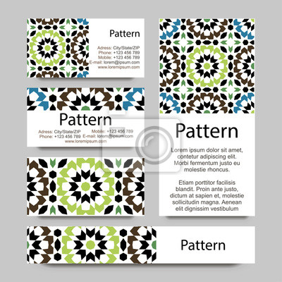 Visitenkarten Muster Mit Islamischen Marokko Ornament