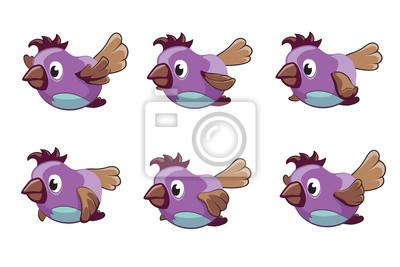 Bild Vogel-Animation-Vektor-Frames. Animation Vogel, Tierfliege Animation, Cartoon Animation Sequenz Abbildung