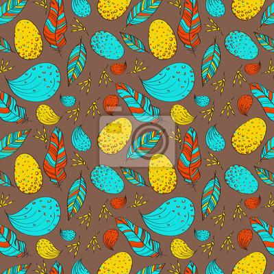 Vogel Vektor nahtlose Muster