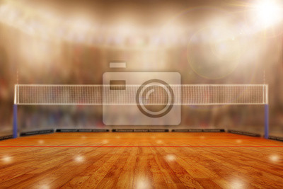 Volleyball-Arena mit Textfreiraum