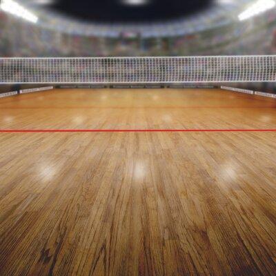 Bild Volleyball-Arena Mit Zuschauern und Textfreiraum