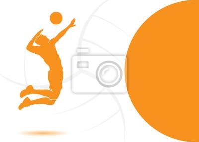 Volleyball Hintergrund - Vektor-Illustration