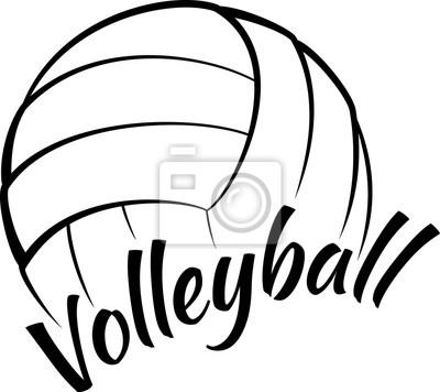 Bild Volleyball mit Spaß-Text