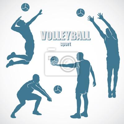 Volleyball Silhouetten - Vektor-Illustration