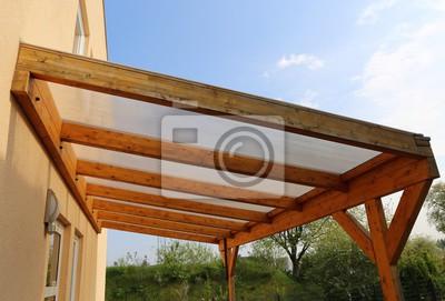 Vordach Aus Holz Leinwandbilder Bilder Haustur Eintrag Veranda
