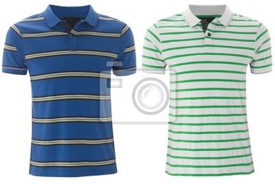 Bild Vorderseite der sauberen gestreifte T-Shirts (Polo).