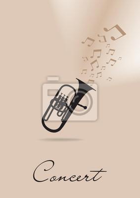 Vorlage für das Konzert-Plakat mit Trompete