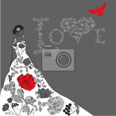 Vorlage für Hochzeitskarte